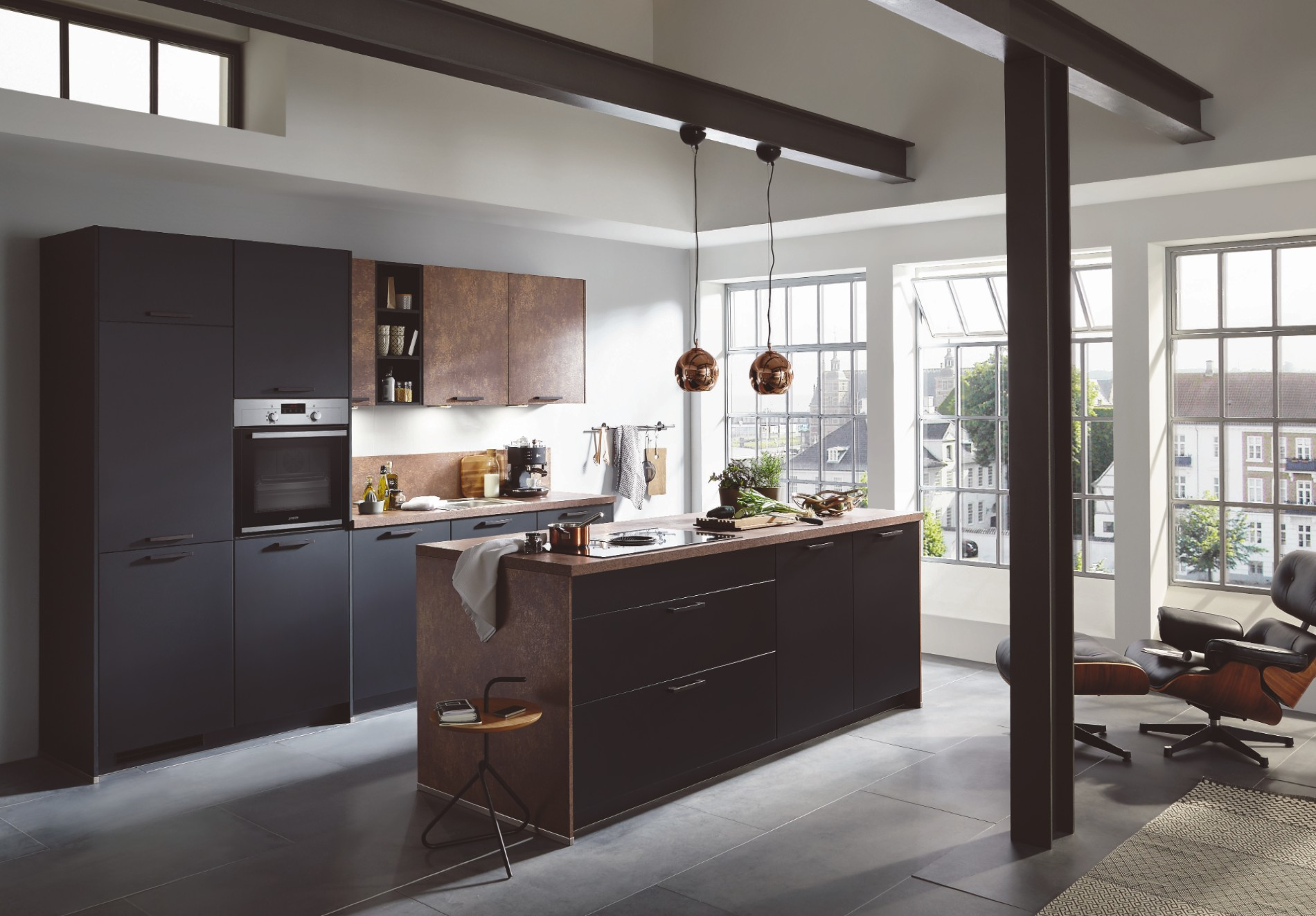 Moderne keuken zwart